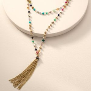Stella & Dot Gitane Tassel Necklace